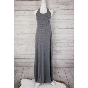 Gap striped halter maxi dress